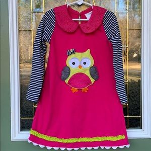Other - Counting Daisies Owl longsleeve dress size 6